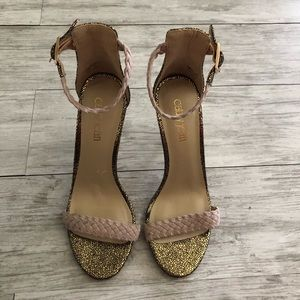 Cathy Jean Gold High Heels